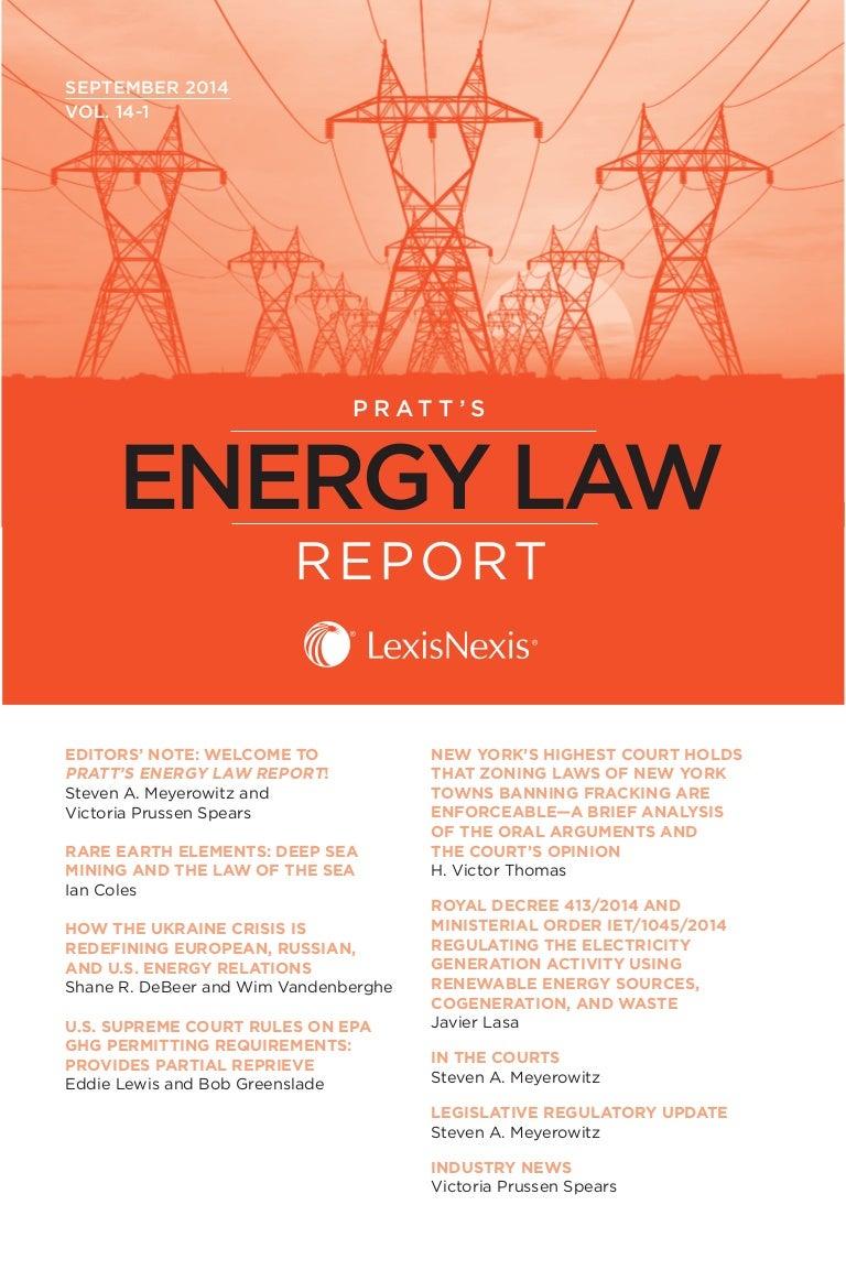 Pratts energy law report sample issue september 2014 fandeluxe Gallery