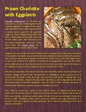 Prawn charlotte with eggplants