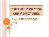 Hydration Of Cement...PRC-I
