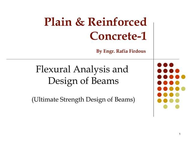 Flexural design of Beam...PRC-I