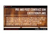 Pre and Post Contract BIM Execution Plans
