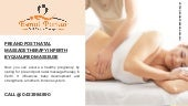 Pre and Post Natal Massage Therapy in Perth by Qualified Masseuse