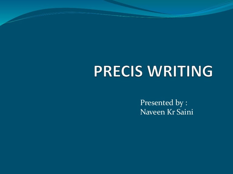 Precis Writing Examples   Essay Writing   how to write a precis