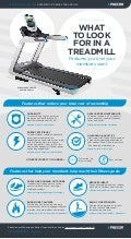 Infographic: What To Look for in a Treadmill