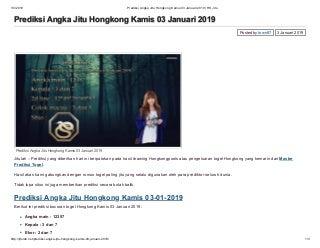 Prediksi angka jitu hongkong kamis 03 januari 2019 hk jitu
