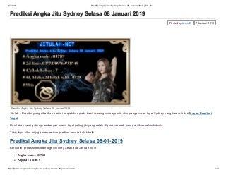 Prediksi angka jitu sydney selasa 08 januari 2019 sd jitu