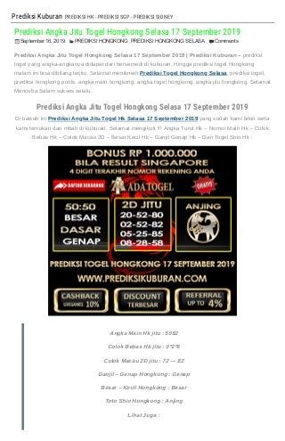 daftar tabel shio togel 2019