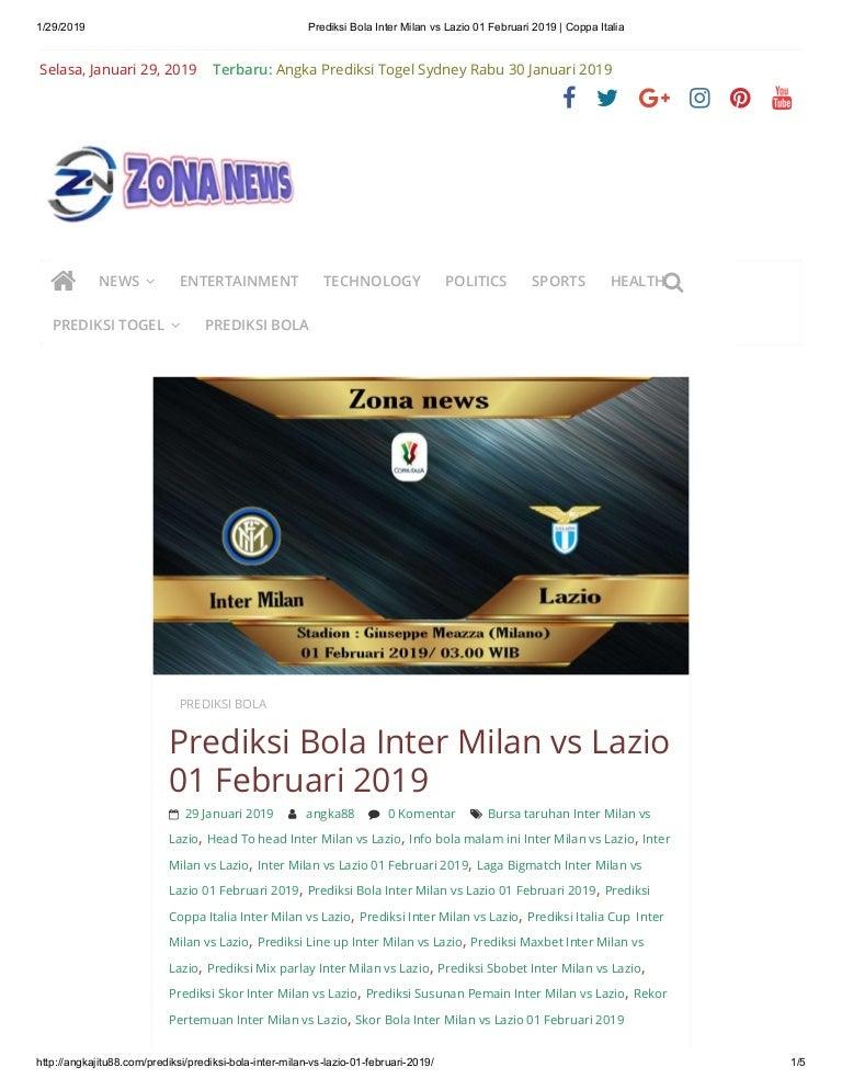 Prediksi bola inter milan vs lazio 01 februari 2019 coppa ...