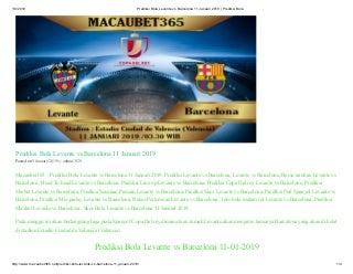 Prediksi bola levante vs barcelona 11 januari 2019 prediksi bola
