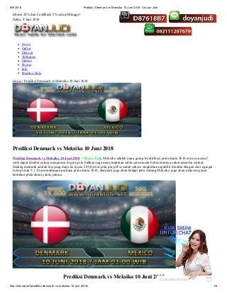 Prediksi denmark vs meksiko 10 juni 2018 doyan judi