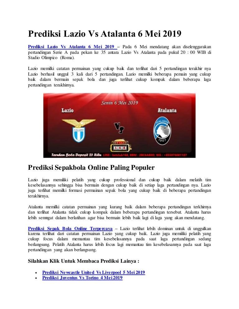 prediksi lazio vs atalanta 8 mei 2019 prediksi lazio vs atalanta 8 mei 2019
