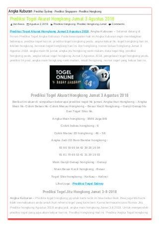 daftar togel hkg 2018