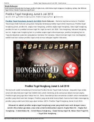daftar keluaran togel hongkong 6 digit