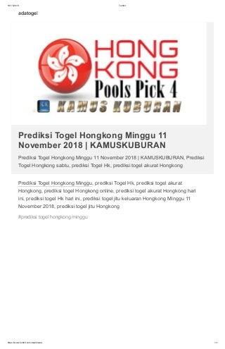 daftar togel hongkong november 2017