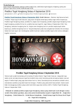 togel main korea