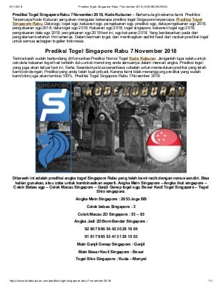 togel singapore data keluaran 2018