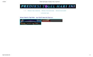 data togel hari ini indonesia