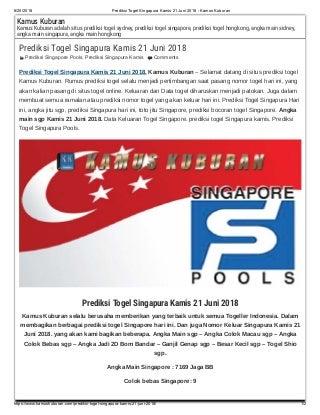prediksi angka main togel singapura besok