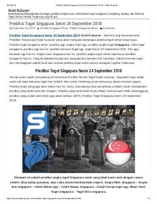 Prediksi togel singapura senin 24 september 2018