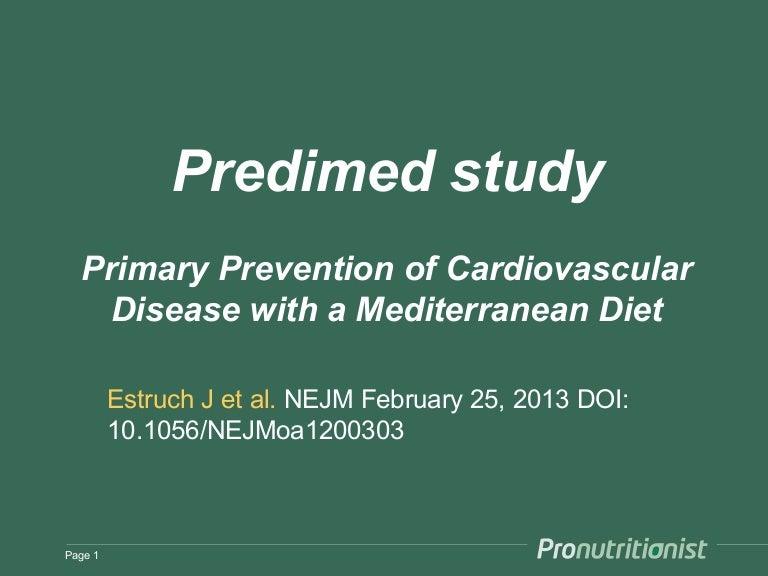 predimed study mediterranean diet