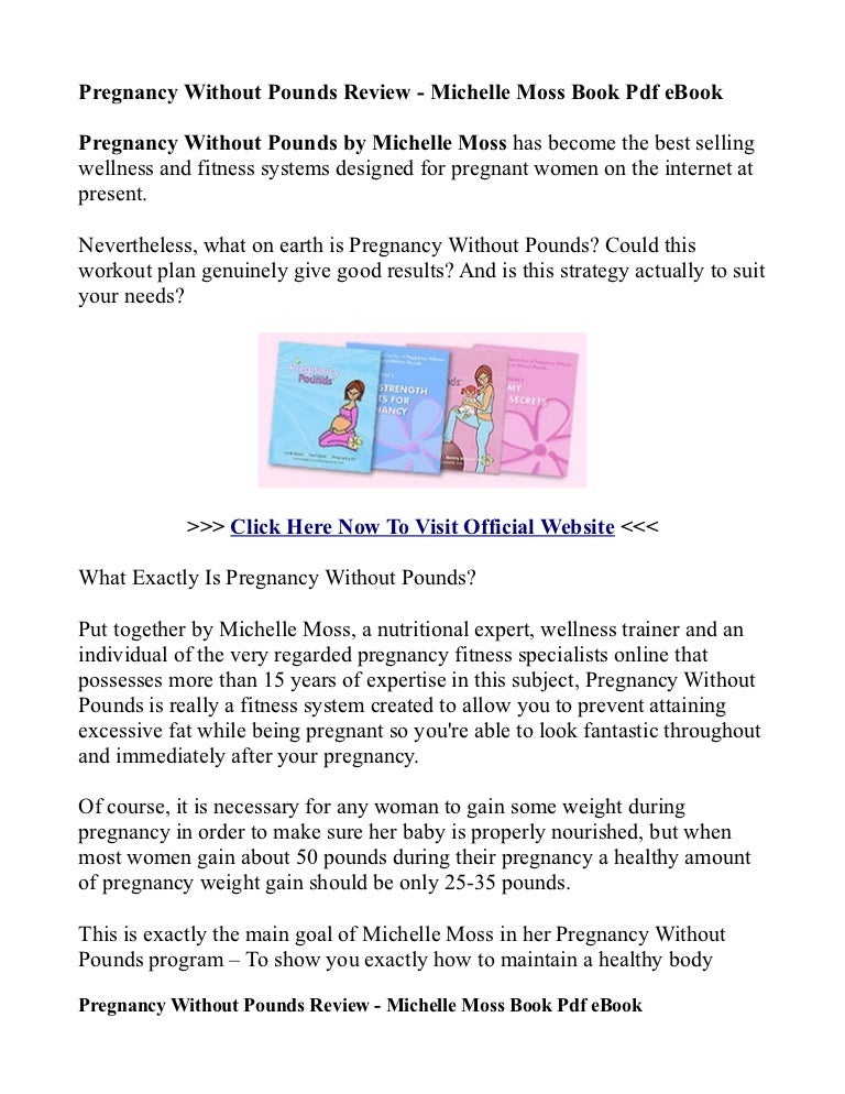 Pregnancy Without Pounds Ebook