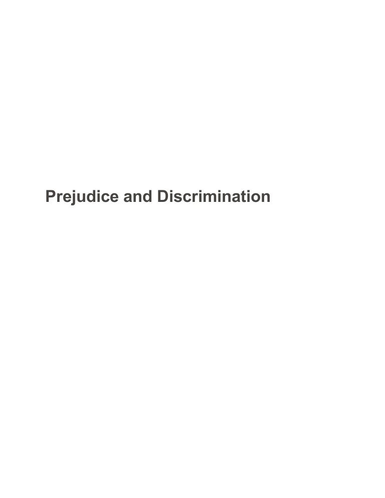 prejudice and discrimination sample paper essay