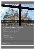 Preliminary DBA Thesis - Basic Social Math