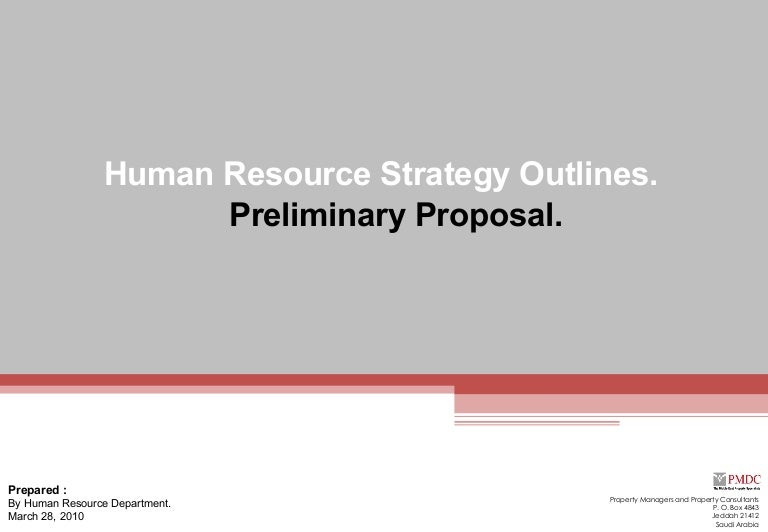 Preliminary HR Proposal – Hr Proposal Template