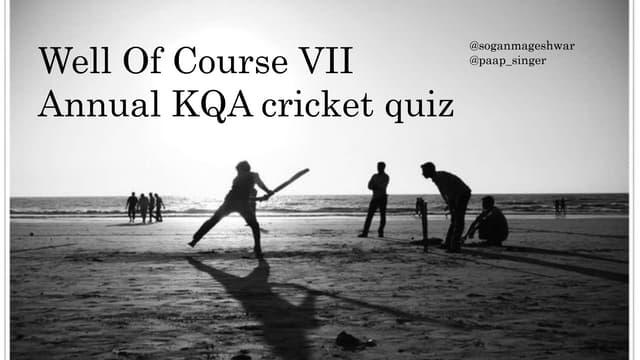 KQA Cricket Quiz 2017 Prelims