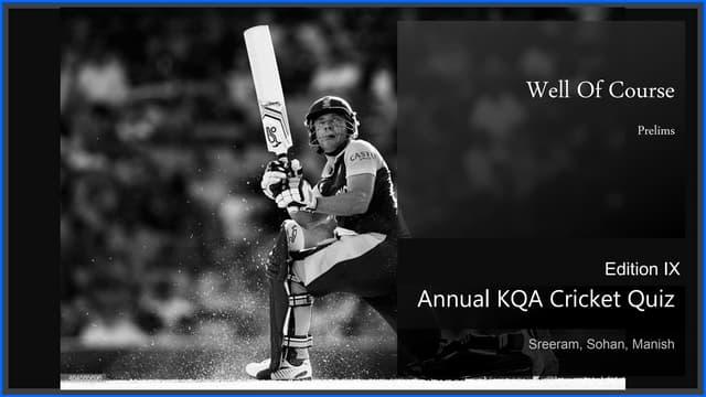 KQA Cricket Quiz 2019 Prelims