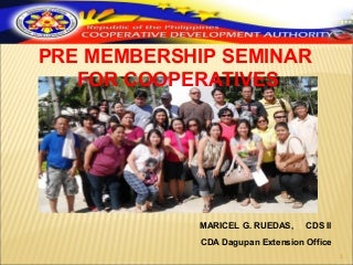 Pre Membership Education Seminar (PMES)