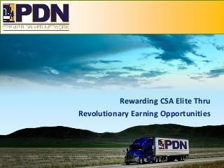 Premier Driver Network: Driver and Owner Operator Recruiting and Retention Plan