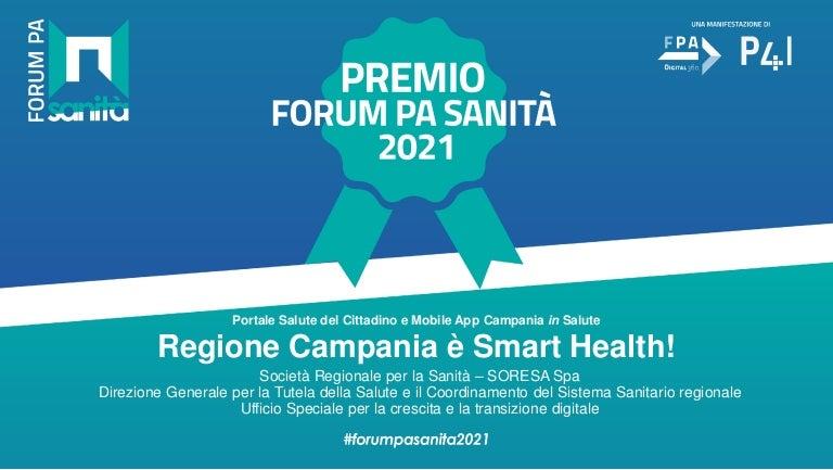 premioforumpasanita2021 templateppt regionecampania 04 10 21 211004103738 thumbnail 4