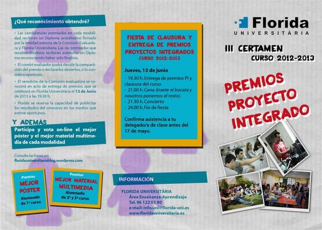 Tríptico proyectos integrados 2012-2013