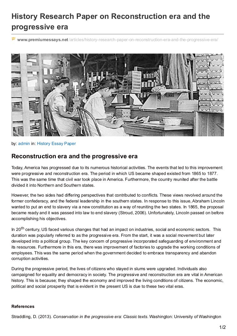 premiumessays net history research paper on reconstruction era and th