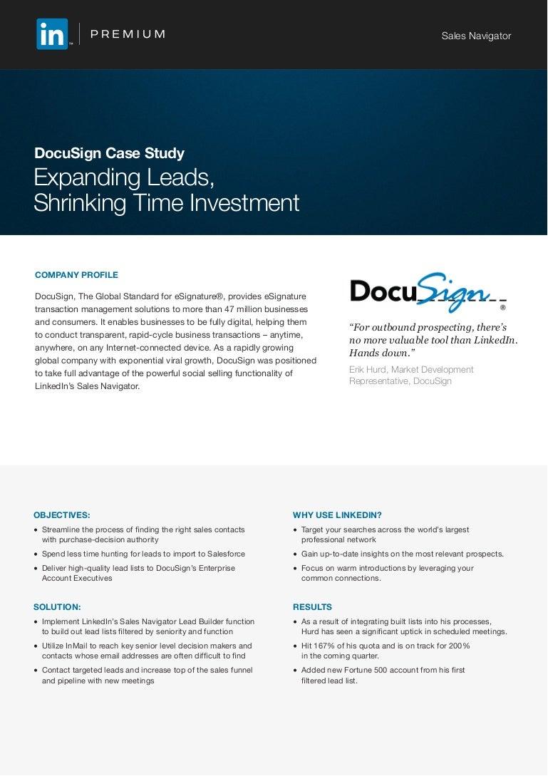 DocuSign LinkedIn Premium Sales Navigator Case Study