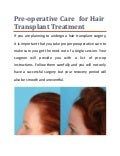 Pre-operative Care for Hair Transplant Treatment Saudi Arabia