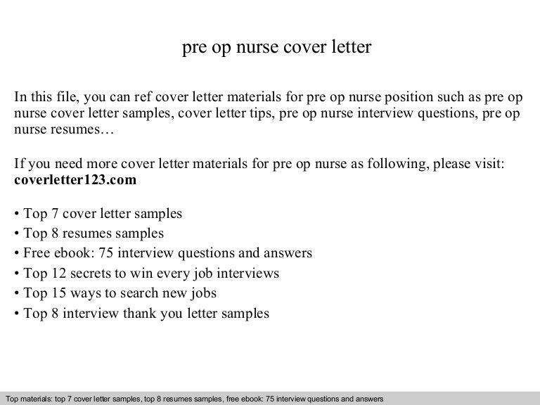 pre op nurse cover letter - Pre Op Nurse Sample Resume