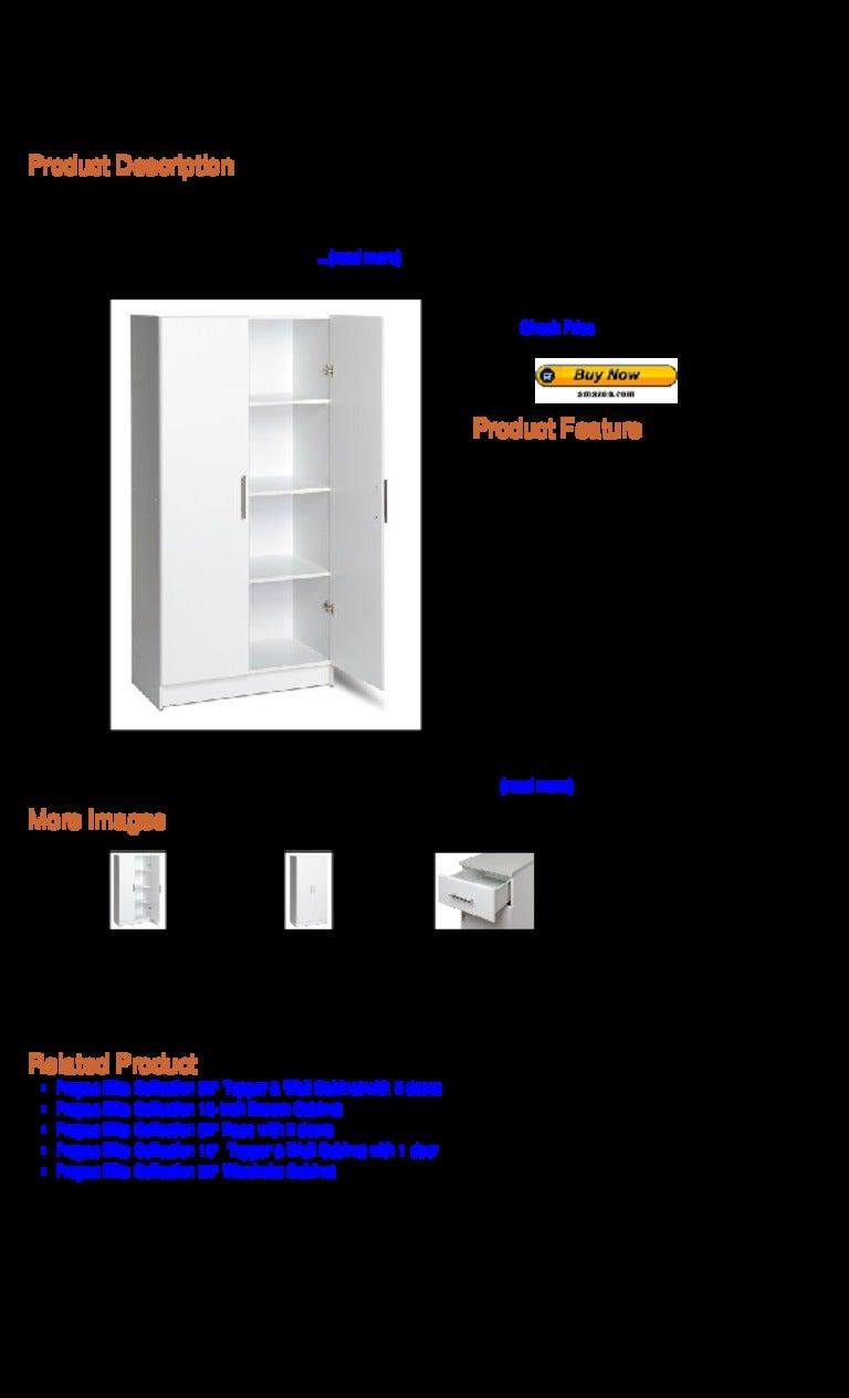 Prepac elite collection 32 inch storage cabinet