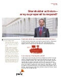 Shareholder activism - are you prepared to respond?