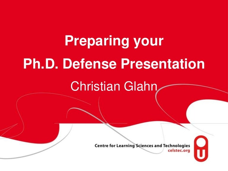 prepare your ph.d. defense presentation, Presentation templates