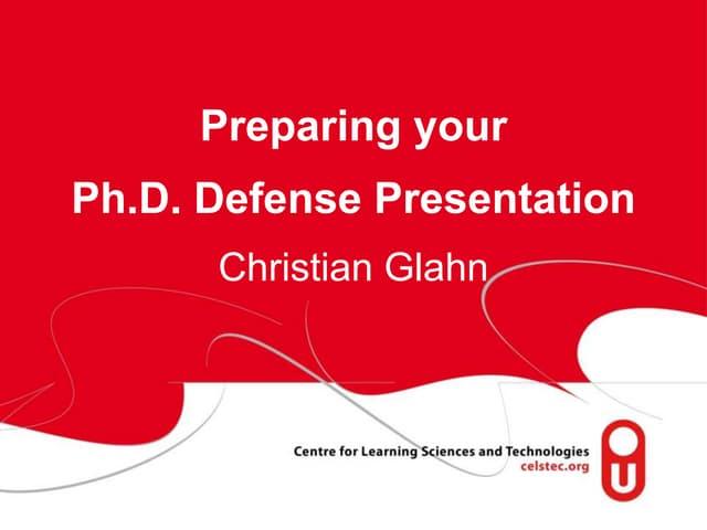 Dissertation oral defense ppt