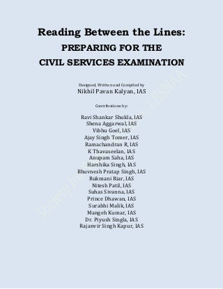 Reading between the lines: Preparing for the CIVIL SERVICES EXAMINATION