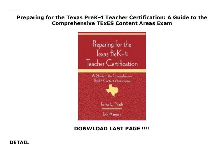 preparing certification teacher texas