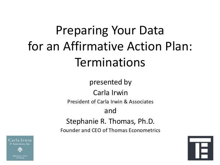 Preparing Your Data For An Affirmative Action Plan Termination