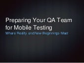 Preparing your QA team for mobile testing