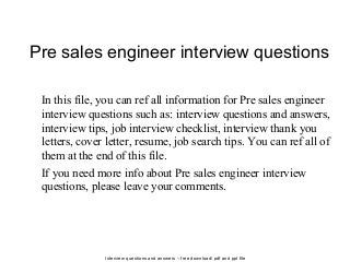 Cover Letter For Sales Engineer Job VisualCV