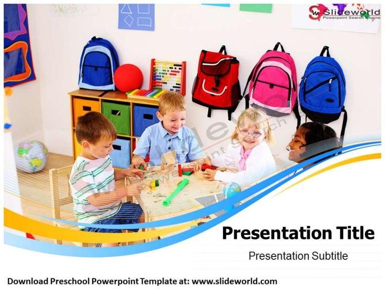 Preschool Powerpoint Template - Slide World