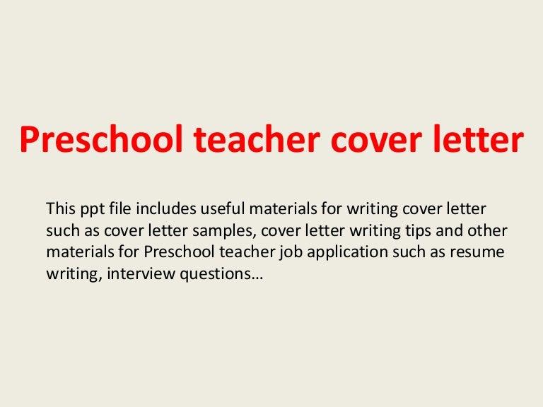 teacher sample cover letters