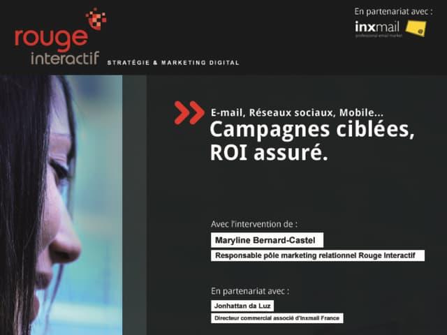 Présentation conférence : Campagnes ciblées, ROI assuré